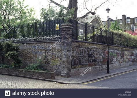mercury in 1st house london home of freddie mercury of queen the walls are covered with stock photo
