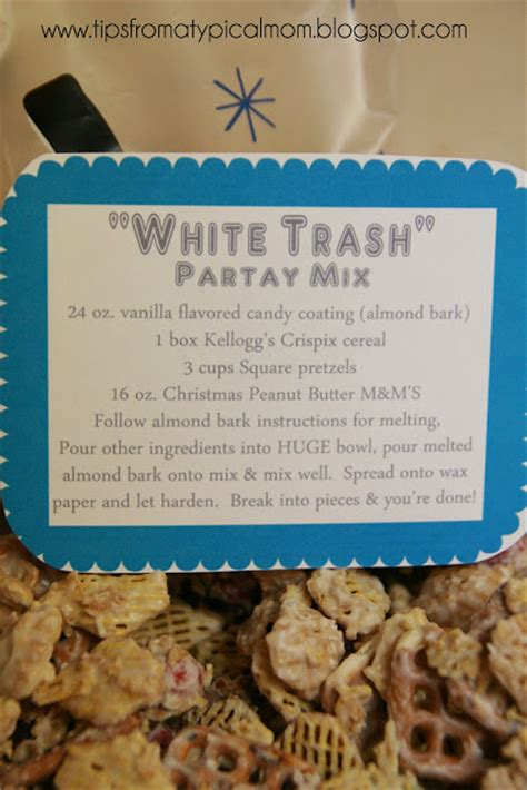 white trash christmas party quot white trash quot mix recipe and free printable gift tags tips from a typical
