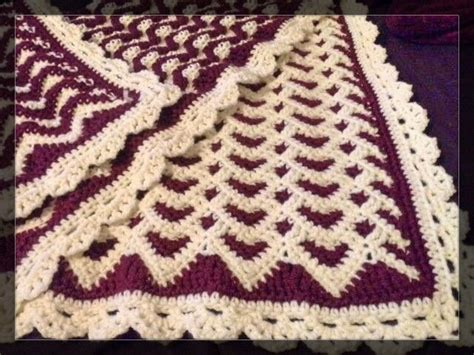 sweetheart reversible ripple afghan pattern 1000 images about crochet afghan blanket pillow on