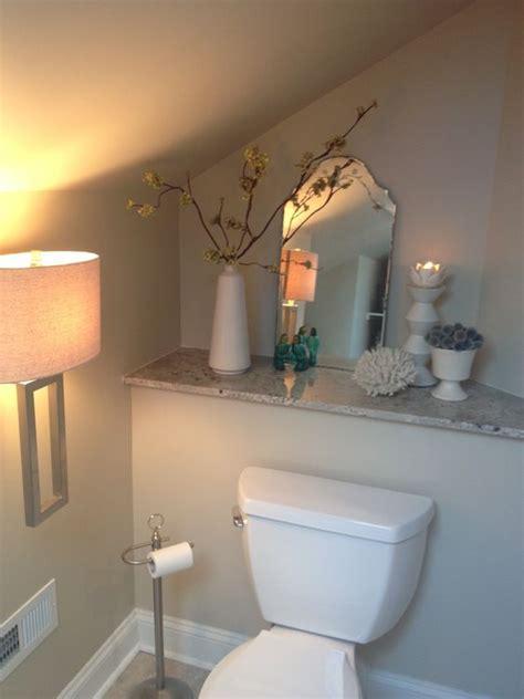 bathroom shelves behind toilet pinterest the world s catalog of ideas