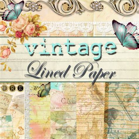 the design collection journal stained floral lined journal paper pack digital 10
