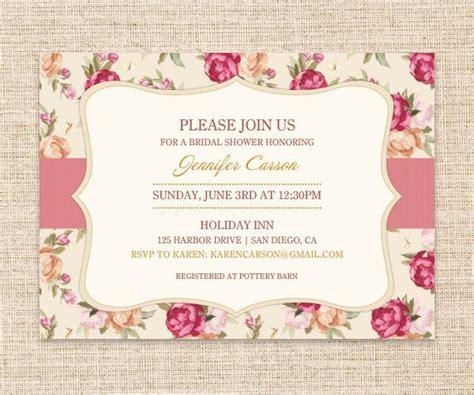 vintage invitation garden bridal shower or