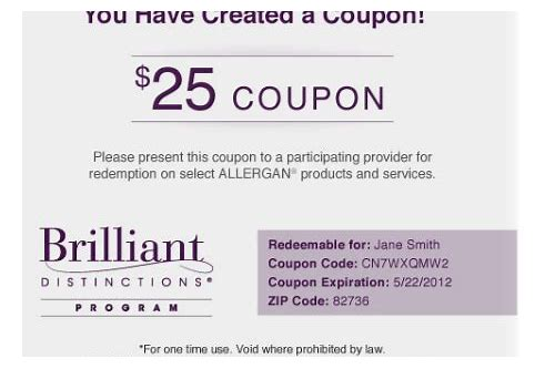 brilliant distinctions botox coupon