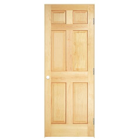Shop Masonite Classics 6 Panel Pine Single Prehung Masonite Prehung Interior Doors