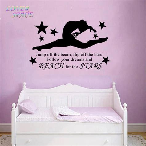 wall art for girls bedroom aliexpress com buy gymnast gymnastic girls bedroom quote