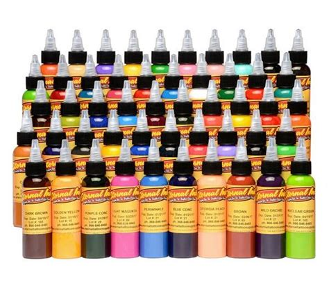 eternal tattoo ink 50 color silver set