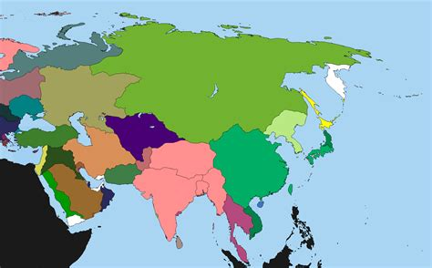 world map with countries no names map continuation xi map 2 asia page 3 alternate
