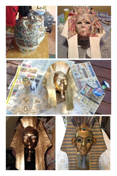 how to make a paper egyptian boat how to make a king tut mask lots of paper m 226 ch 233 foam