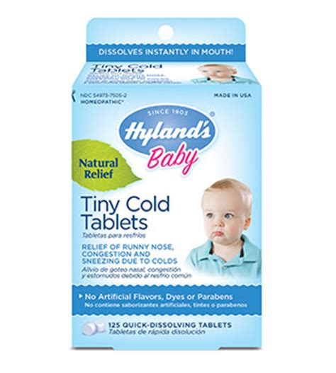 3 Month Baby Cold Medicine by Hyland S Baby Tiny Cold Tablets Hyland S Homeopathic