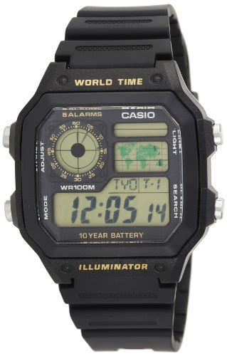 Jam Tangan Casio Ae 1200wh Black casio youth digital black s ae 1200wh