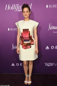 marion cotillard wears abstract design dress for the