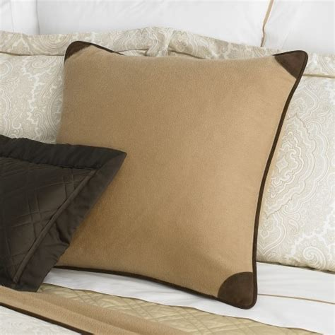 leather trim pillow traditional decorative