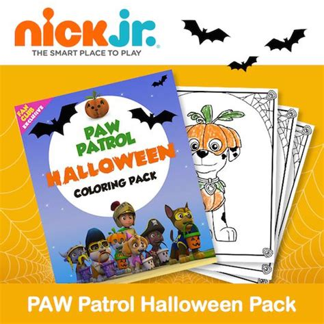 fall coloring pages nick jr nick jr has a fun new printable paw patrol halloween