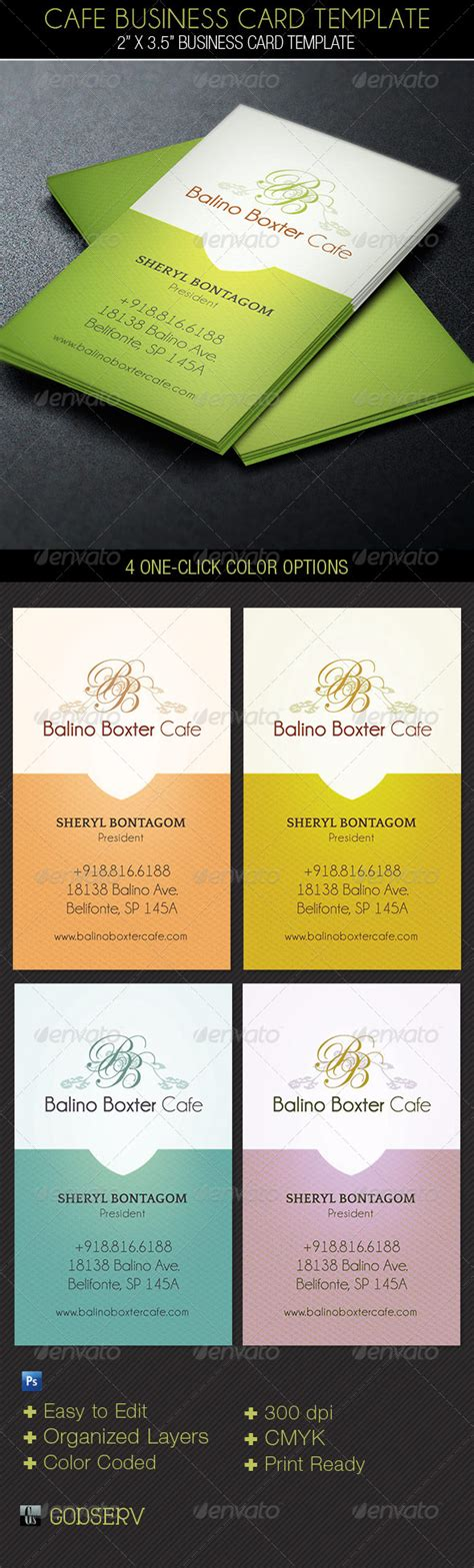 cafe business card template cafe business card template industry specific business cards