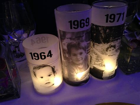 Candle Centerpieces For Birthday 50th Birthday Bash Custom Candle Centerpieces 1 Classic