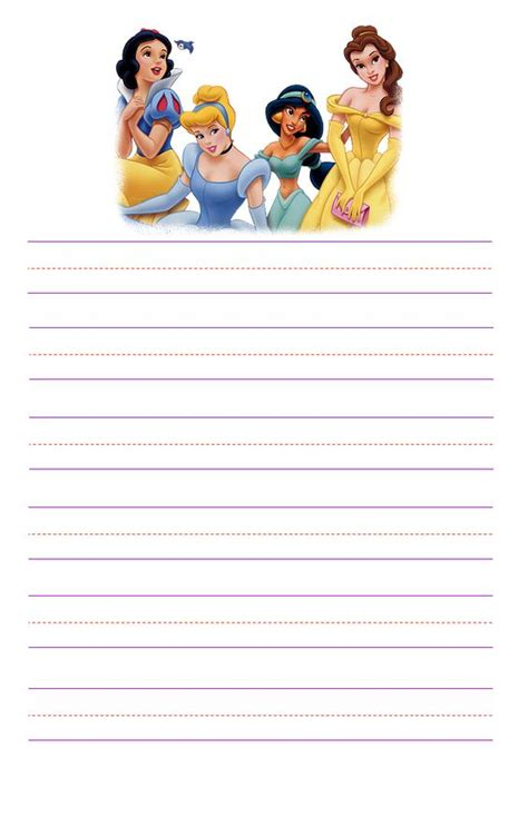 princess writing paper http disney stationary kid stationary princess kid
