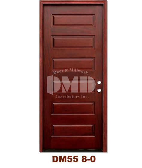 Six Panel Exterior Wood Doors by Dm55 6 Panel Exterior Wood Mahogany Door 8 0