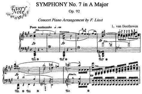 beethoven symphony 7 liszt beethoven symphony no 7 op 92 piano sheet