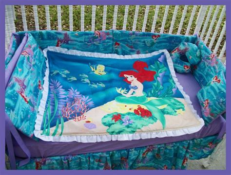 little mermaid toddler bed little mermaid crib set kids pinterest