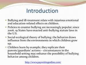 Anti Laws Essay by Bullying
