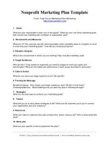Marketing Plan Outline by Nonprofit Marketing Plan Template Summary