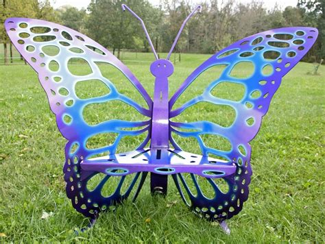 metal butterfly bench cool tone butterfly throne chair