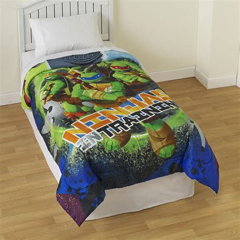 teenage mutant ninja turtle twin comforter nickelodeon teenage mutant ninja turtles boy s reversible