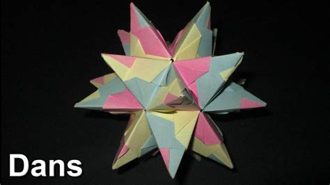 How To Make A Paper Dodecahedron - how to make an origami tornillo module great stellated