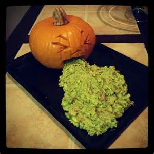 guacamole puking pumpkin all hallows eve o pinterest