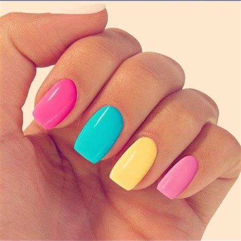 multi colored nails pictures photos and images for