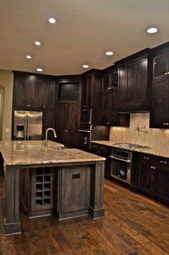 dark wood cabinet kitchens dark cabinets w wood floors i would do lighter cabinets up