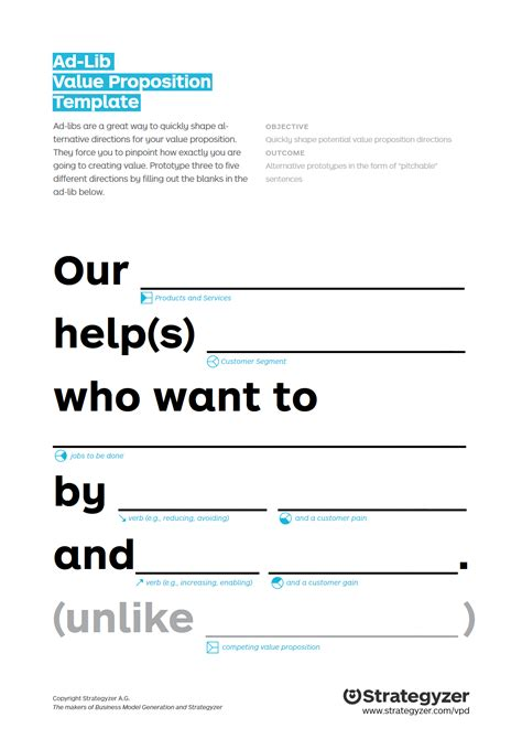Unique Value Proposition Resume by Great Unique Value Proposition Template Gallery Exle
