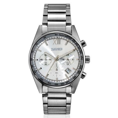 Jam Tangan Analog Skmei Model 9096 skmei jam tangan analog pria 9096cs white