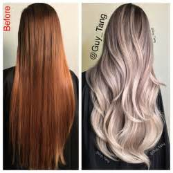 color correction hair cool colored ombre from copper