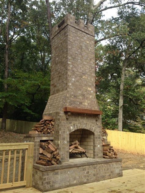 Garden Chimneys For Sale Outdoor Chimney And Deck Rustic Deck Birmingham By
