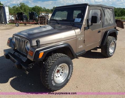 2002 Jeep Wrangler Models 2002 Jeep Wrangler X Suv No Reserve Auction On Wednesday