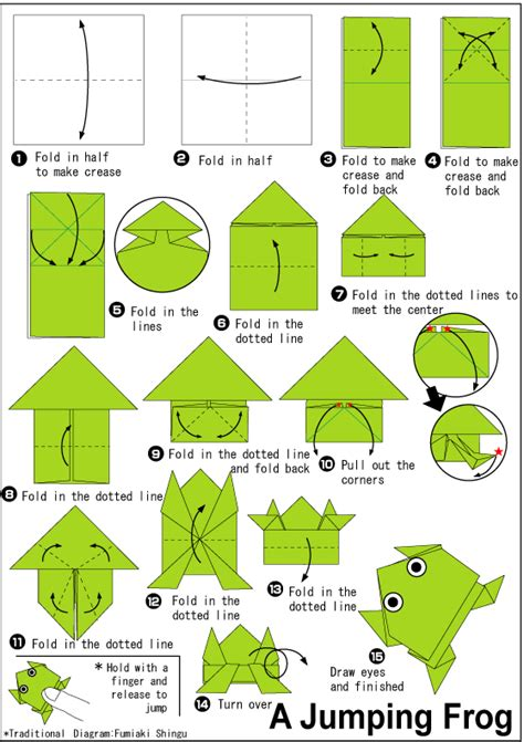 Paper Frogs Origami - jumping frog easy origami for
