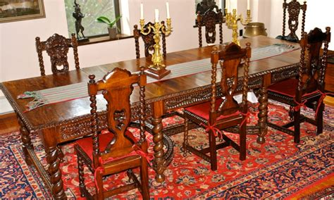 large spanish dining table   chairs  stdibs