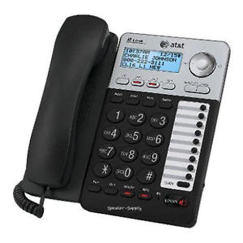 at t 2 line corded speakerphone ml17929 caller id call