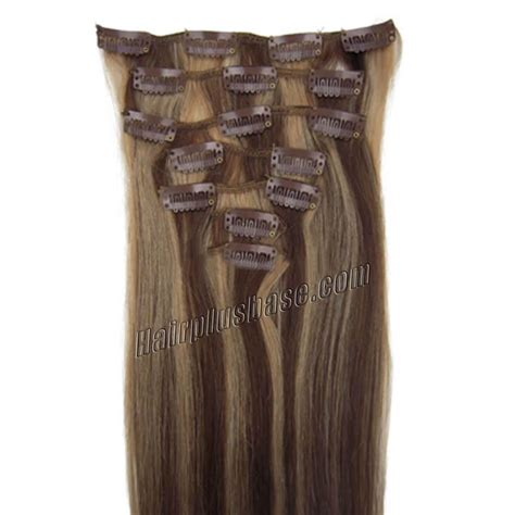 30 inch 4 27 brown 30 inch 4 27 brown clip in remy human hair