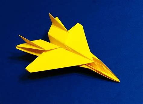 Origami Model Airplanes - how to make an f15 eagle jet fighter paper plane tadashi