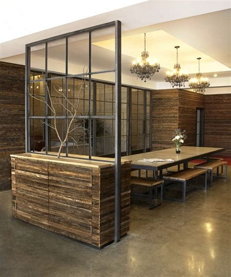 industrial room dividers bench style conference room seating w semi textured divide and organic accents