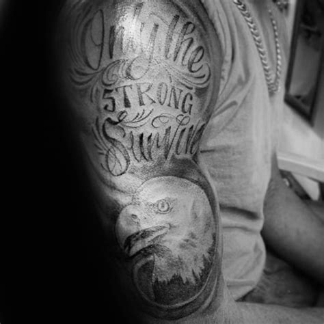 40 only the strong survive tattoos for men motto design