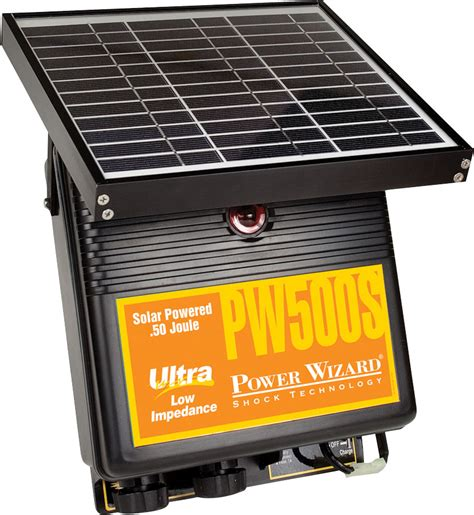 electric fence solar charger power wizard electric fence energizer solar charger pw500s