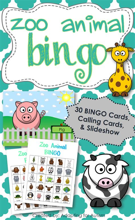 printable zoo animal bingo cards french immersion song in video animation deux petits