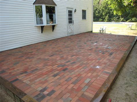 Brick And Concrete Patio by Brick Patios Island Ny Pavers Cement