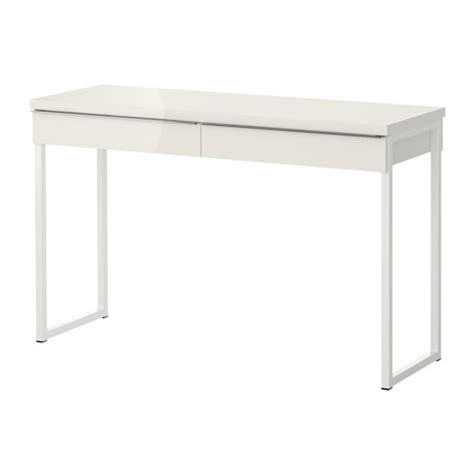 Best 197 Burs Desk High Gloss White 120x40 Cm Ikea Desk Ikea