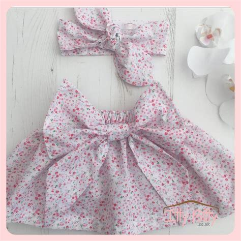 Handmade Skirt - handmade statement bow skirt and wrap set baby