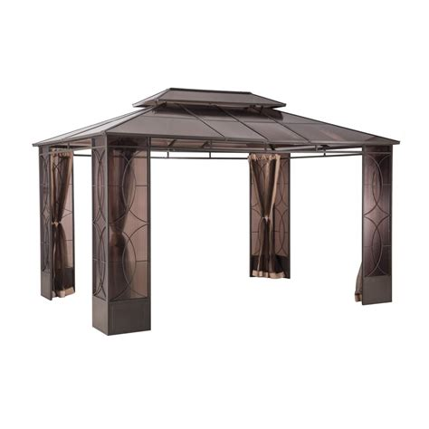 10 x 14 gazebo sunjoy reflections 10 ft x 14 ft steel gazebo l gz760pst