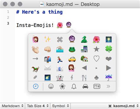 emoji editor textexpander all the kaomoji